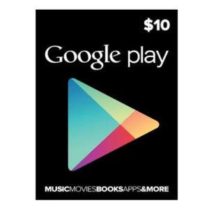 gift card google play10 us